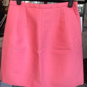 J. CREW Salmon Pink Wool & Silk Blend A-Line Skirt
